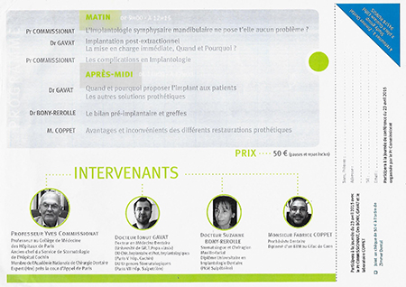 Flyer conference du Jeudi 23 Avril 2015